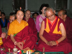 puja at Heruka holy place, Khadro la