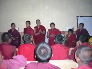 Some of the nuns of Tashi Chime Gatsal Nunnery.