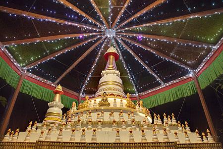 Kadampa Stupa at Kachoe Dechen Ling, Aptos, CA, USA.