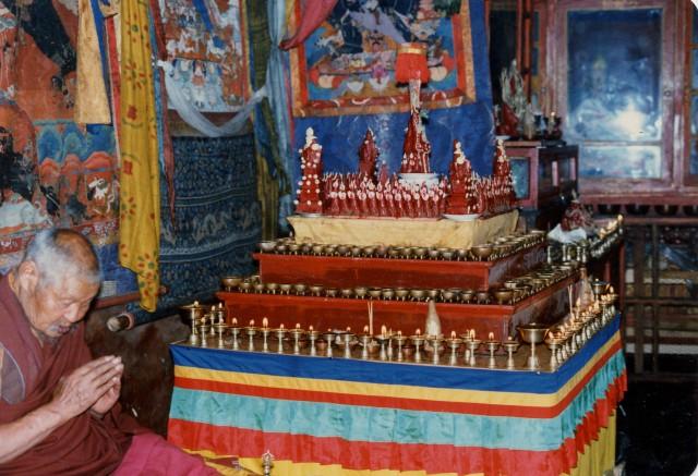 Geshe Sengye and Hayagriva torma