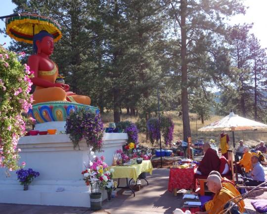 Amitabha celebration day, Buddha Amitabha Pure Land, Washington, US, August 2014. Photo by Ven. Roger Kunsang.