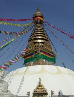 Swayambunath Stupa, Nepal.