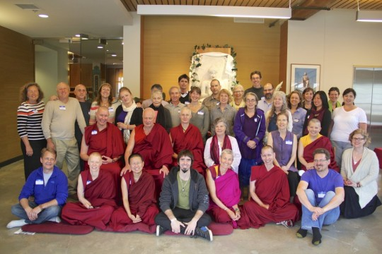 North American Regional Meeting participants with Ösel at Maitripa College, May 12, 2015.
