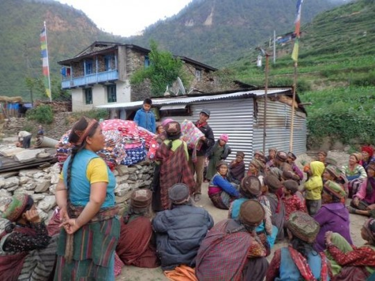 Through Kopan Helping Hands, blankets have been offered to about 1,200 families.