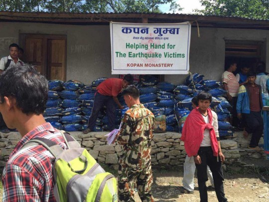 9,135 families and many individuals in the eleven most affected districts of Nepal have been assisted so far by Kopan Helping Hands.