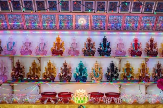 Extensive offerings to Buddha Tara, BAPL, USA. Photo by Chris Majors.