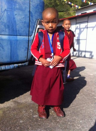 A young nun who had to find temporary housing in Kathmandu when her nunnery was destroyed by the Nepal earthquake.