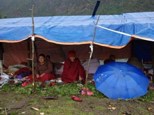 The nuns of Tashi Chime Gatsal Nunnery were forced into temporary shelter in Kathmandu due to their nunnery being rendered uninhabitable following the April earthquake in Nepal.