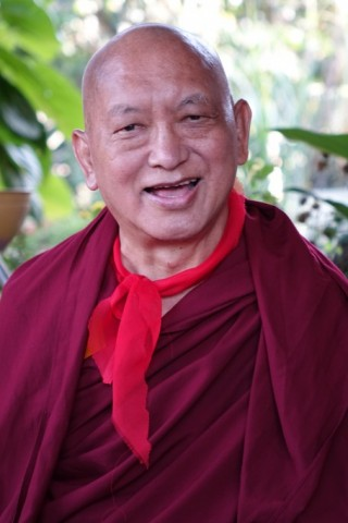 Lama Zopa Rinpoche, South India, January 2016. Photo by Ven. Roger Kunsang