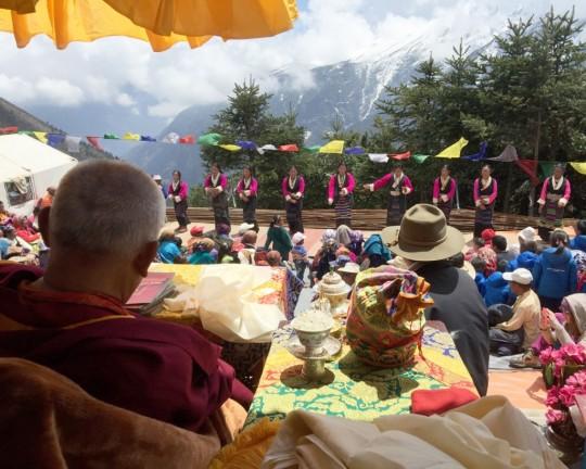 Lama Zopa Rinpoche, Lawudo, Nepal, April 2015. Photo by Ven. Roger Kunsang.