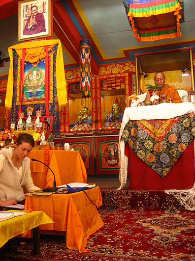 Dagri Rinpoche and Claire at Root