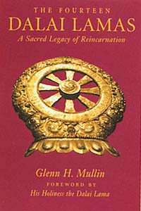 Cover of 'The Fourteen Dalai Lamas' by Glenn H. Mullin