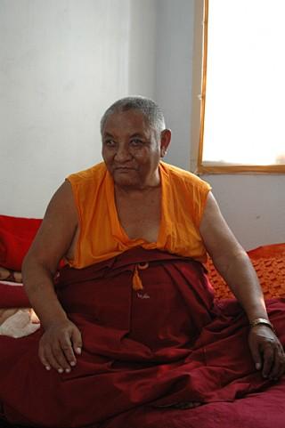 Khensur Jampa Tegchok, Amaravati, India, 2006. Photo courtesy of Ven. Steve Carlier.
