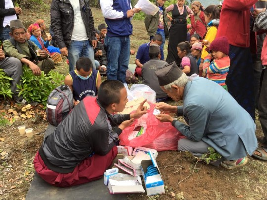 Medical camp offers help in Tsum Valley, Nepal, 2015