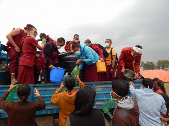 Kopan Helping Hands supplying drinking water, Nepal
