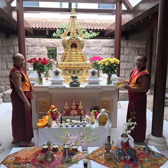 The stupa on the day of its consecration. Photo courtesy of Tara Melwani's Facebook page.