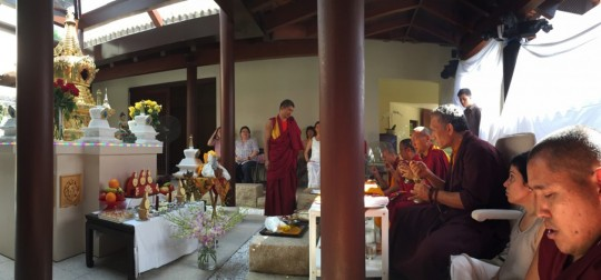 Consecrating the stupa