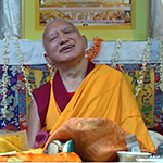 Lama Zopa Rinpoche laughing