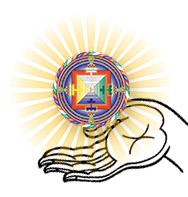 give-a-gift white hand-mandala