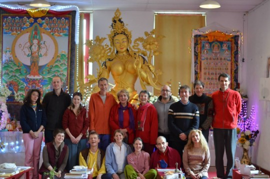 IVY students engaged in ongoing Nyung Nä retreats.