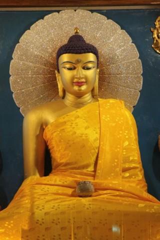 Buddha inside the Bodhgaya Mahabodhi temple.