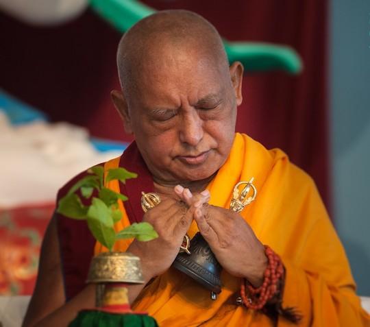 Lama Zopa Rinpoche. Italy, 2014. Photo by Piero Sirianni.