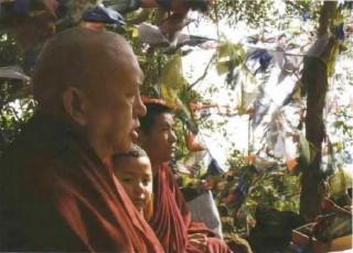 Lama Zopa Rinpoche with Tulku Tenzin Chogyal and Maratika Lama Karma Wangchuk