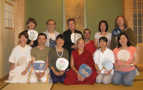 Do Nuk Sung Kuk Centre members with Ven. Dechen during nyung ne, Japan, September 2012