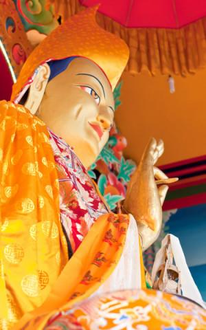 Lama Tsongkhapa statue at Kopan Monastery, Kopan, Nepal. Photos from Dreamstime.
