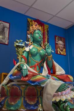 Green Tara statue by Alfredo Baracco, February 2013. Photo by Flavio Zanchetta.