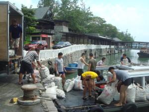 Animal liberations in Singapore, July 2011. Photo courtesy of Amitabha Buddhist Centre.