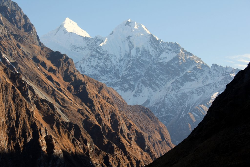 View of the Himalayas from Drephuet Dronme Nunnery. Photo courtesy of Jane Marshall.