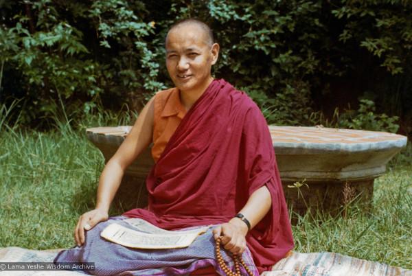 Lama Yeshe at Kopan, 1974. Photo from biglovelamayeshe.wordpress.com.