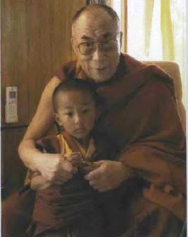 His Holiness the Dalai Lama with Thubten Kundol in Dharamsala