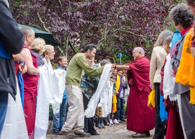Lama Zopa Rinpoche at Land of Medicine Buddha, California, US, September 21, 2013. Photo by Chris Majors.