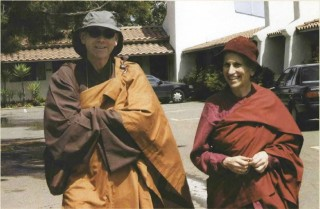 Reverend Master Eko Little, Abbot of Shasta Abbey, with Bhikshuni Thubten Chodron. Photo by Su Co Chon Duc.