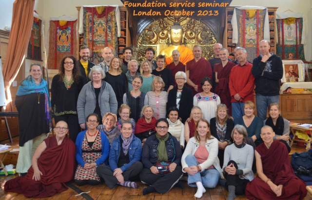 Foundation Services Seminar, Jamyang Buddhist Centre London, October 2013. Photo courtesy of Tara Melwani's Facebook page.