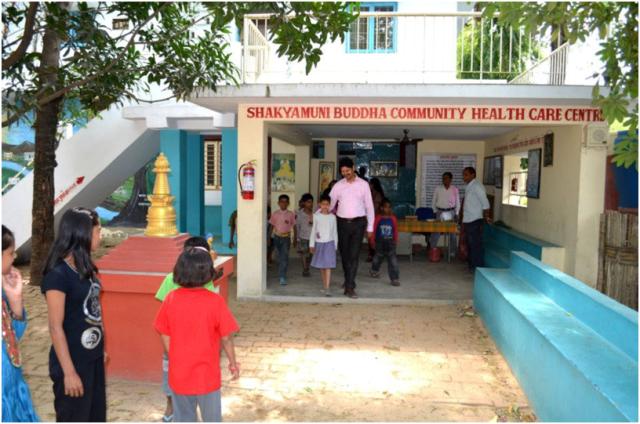 Dr. Sanjay at Shakyamuni Buddha Health Care Center