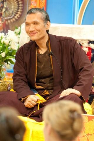 Yangsi Rinpoche, Maitripa College, Portland, Oregon, February 2009. Photo by Marc Sakamoto.