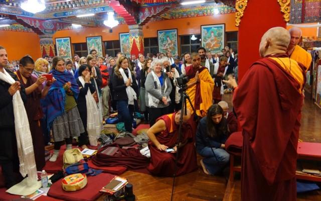 Rinpoche talks to participants of the November course at Kopan Monastery, November 22, 2013.