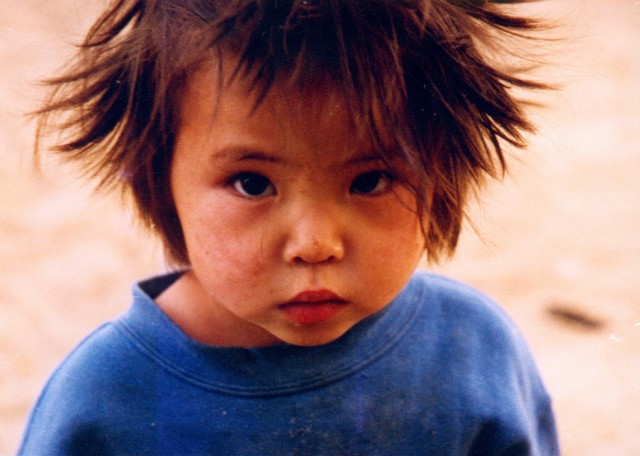 Orphan girl, Mongolia, 2001. Photo by Ueli Minder. Ueli Minder arrived in Mongolia in October 2000 and served FPMT Mongolia in a variety of positions until 2009.