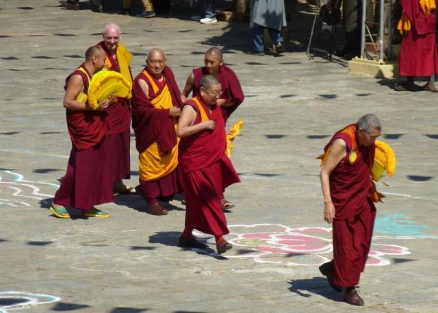Lama Zopa Rinpoche at Sera Monastery, India, December 24, 2013. Photo by Melissa Mouldin.