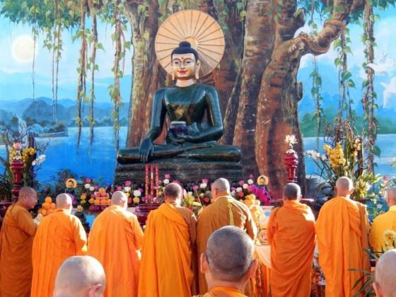 Closing ceremony for Jade Buddha's visit to Santa Ana, California, January 2014