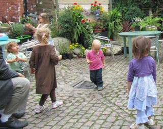 Children at play, Jamyang Buddhist Centre, London, UK, 2014. Photo courtesy of Jamyang Buddhist Centre.