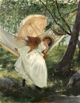 """Lättja"" by Robert Thegerström, 1887. Public domain."