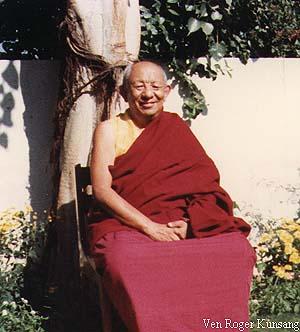 Tsenshab Serkong Rinpoche, Tushita Meditation Centre, New Delhi, 1980.