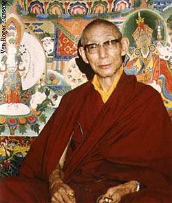 His Holiness Trijang Rinpoche. Tushita Meditation Center, New Delhi. 1979