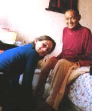 With nurse Shirley Begley.