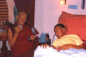 With Song Rinpoche, February 22, 1984.