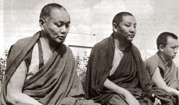 With Geshe Tekchok, Manjushri Institute. 1979